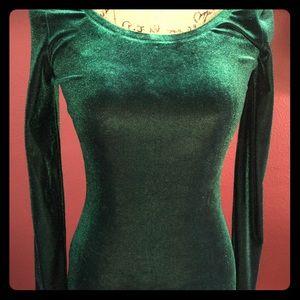 Love Ady Women's Sheath Velvet Long Sleeve Dress